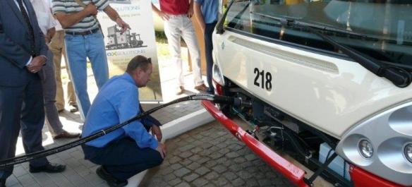 Dopravní podnik JIHLAVA Plnění CNG autobusu