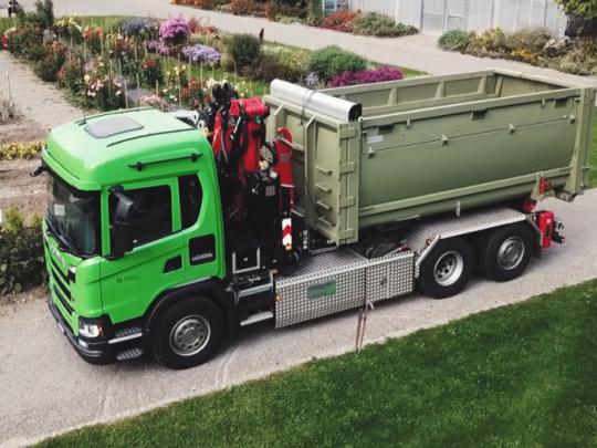 Scania G 410 na bioplyn je součástí recyklačního systému města Curych