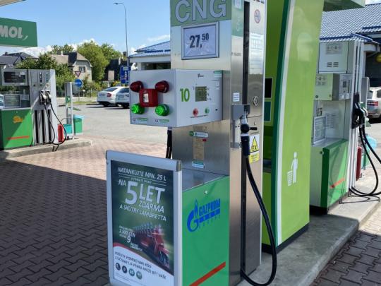 CNG stanice v Mohelnici mimo provoz od 30.8. do 3.10. 2021