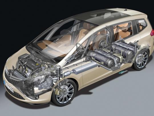 Reportáž o Opel Zafira Tourer 1,6 Turbo CNG