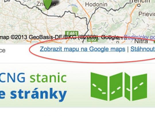 Přidáváme nové funkce na mapách CNG stanic