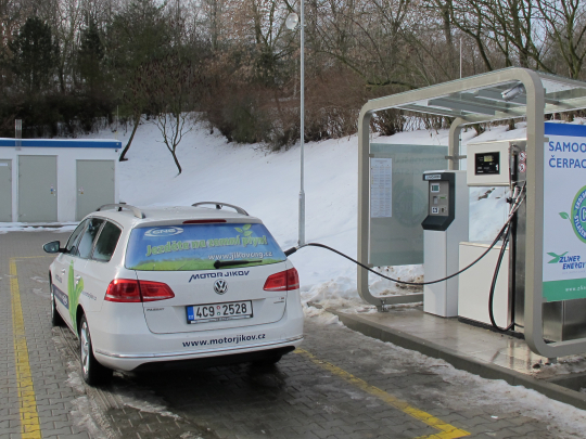 První veřejná CNG plnicí stanice na Písecku