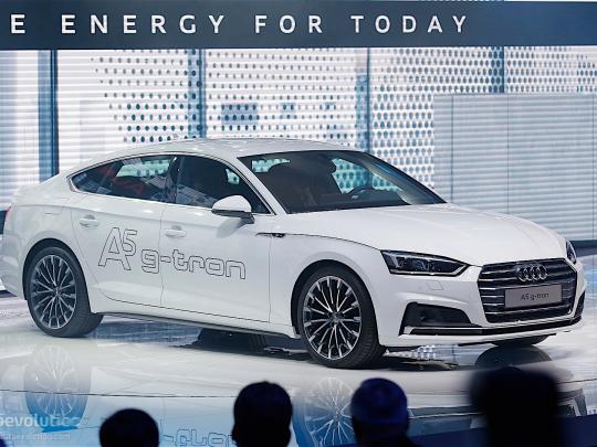 Světová premiéra Audi A5 g tron na autosalonu v Ženevě