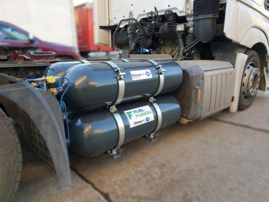 Dvoupalivové systémy nafta + CNG v nákladní dopravě